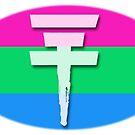 Tokio Hotel logo Polysexual flag by Zarlina