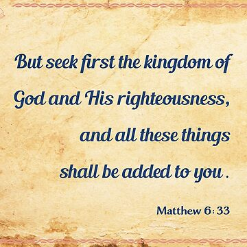 Matthew 6:33 by WordsFromHeaven