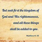 Matthew 6:33 by Bethel Store