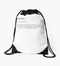 The Dude Dudeism Philosophy Dictionary Definition T Shirt Drawstring Bag