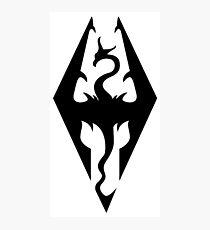 Skyrim - Logo artwork Photographic Print
