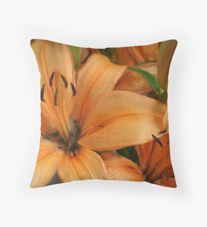 Lilies and Ants Throw Pillow