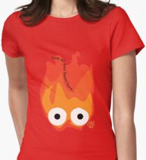 Calcifer's Curse Variant Womens Fitted T-Shirt
