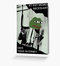 Delete Article 13 - Malcolm X Pepe Greeting Card