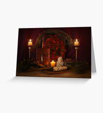 Pagan Altar Scene Greeting Card