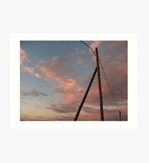 Electrical Power vs Golden Sky Art Print