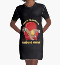 Official Napping Shirt - Lazy Sloth Graphic T-Shirt Dress