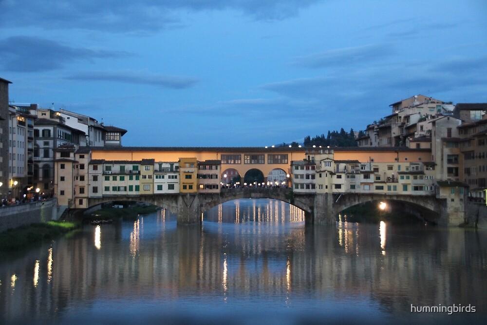Ponte Vecchio at Dusk by hummingbirds