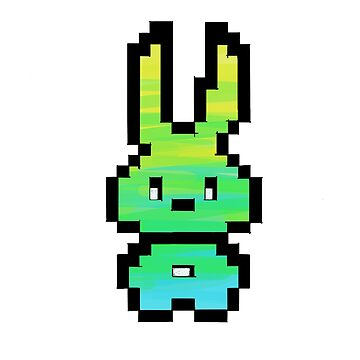8-bit Bunny by DroopyFruit