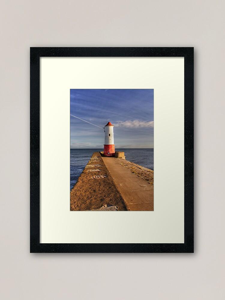 Alternate view of Berwick Upon Tweed Lighthouse Framed Art Print