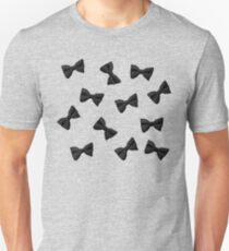 Scattered Bow Ties- Black Unisex T-Shirt