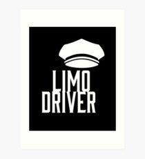 Limo Driver Art Print