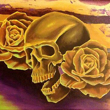 Skull & Roses by CJOrazi