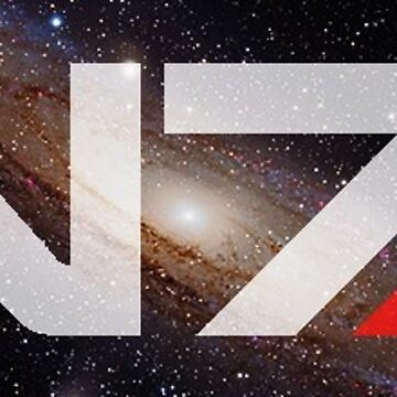 N7 Mass Effect galaxy sticker by crylenol