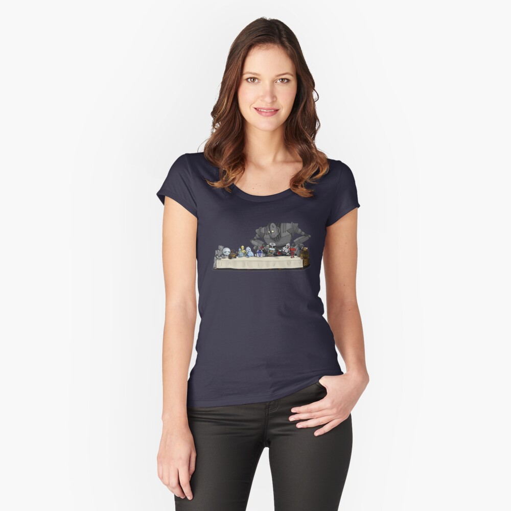Robots Don't Need to Eat Fitted Scoop T-Shirt