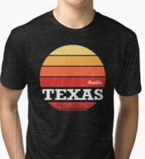 Retro Austin Texas Sunset Shirt Tri-blend T-Shirt
