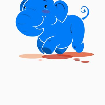 I mah blue elephant by lemwell