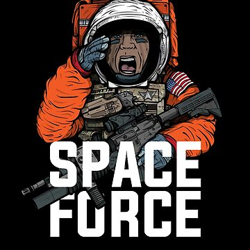 Space Force Astronaut Military Combat Vet Illustration by Fragoutdesign