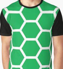 Green Honeycomb Graphic T-Shirt