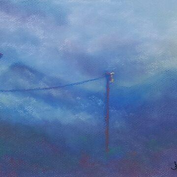 Misty Morning (pastel) by nikihilsabeck