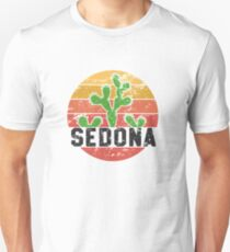 Retro Sedona Arizona Shirt - Family Vacation Cactus Gift Unisex T-Shirt
