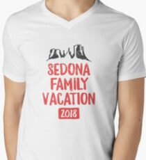 Sedona Family Vacation 2018 - Arizona Red Rock Hiking Gift Men's V-Neck T-Shirt
