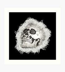 The Spooky Skull Sketch Art Print