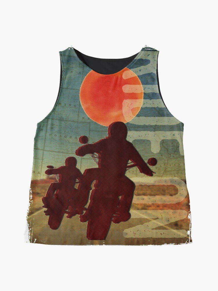 Alternate view of Bikers in the sunset Sleeveless Top