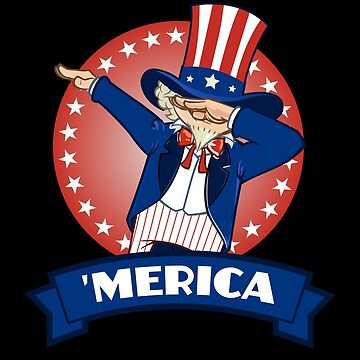 Merica Dabbing Uncle Sam America USA July 4th by BUBLTEES