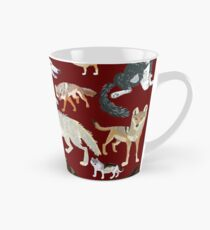Wolves of the World (silouets) Taza cónica