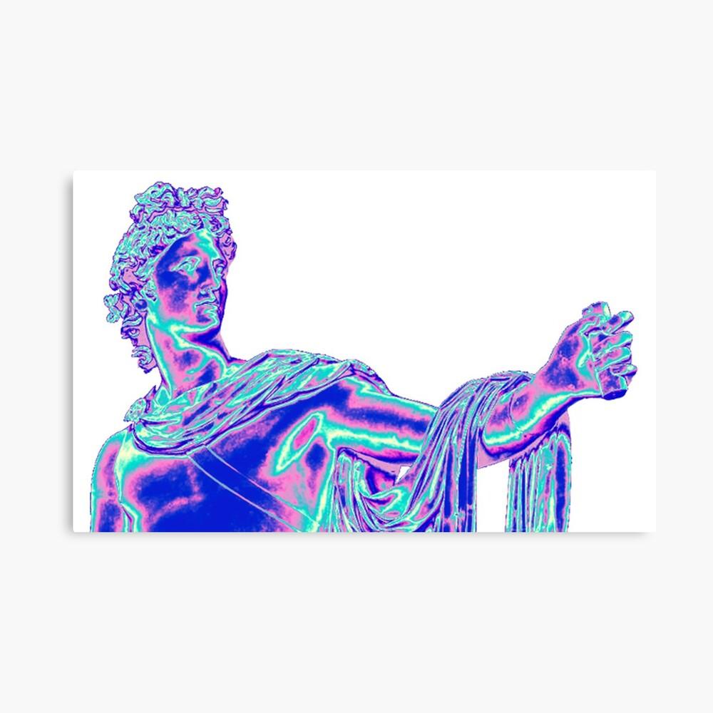 Vaporwave Apollo Leinwanddruck