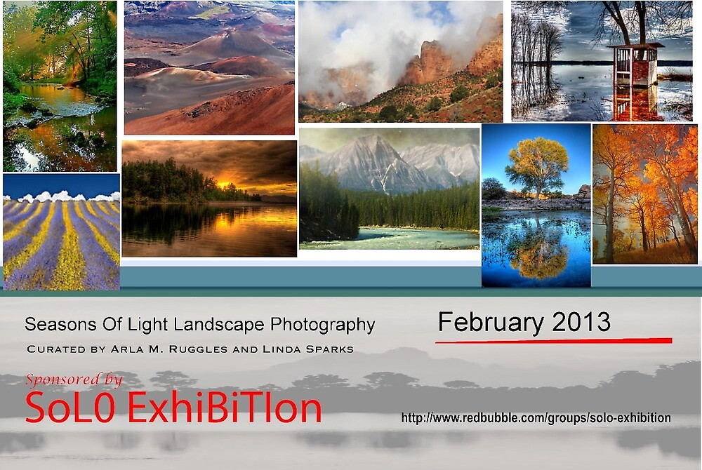 Seasons of Light Landscape Photography, Exhibition Banner by solo-exhibition