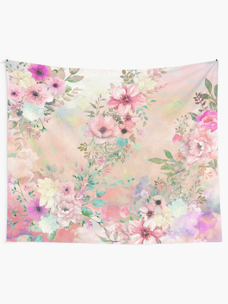 Alternate view of Botanical Fragrances in Blush Cloud Tapestry