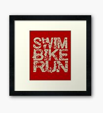 Triathlon - Swim Bike RunTriathlon - Swim Bike Run Triathlete Framed Print