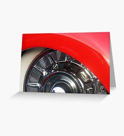 Red Mercury Sled  • Huntington Beach Greeting Card