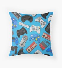 Video game controller background Gadgets and Devices seamless Gamepad pattern Floor Pillow