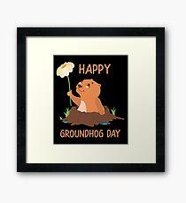 Happy Groundhog Day Framed Print