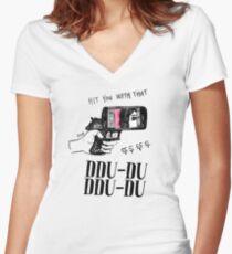 HIT YOU WITH THAT DDU DDU X2 Women's Fitted V-Neck T-Shirt