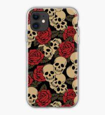 Schädel und Rosen iPhone-Hülle & Cover