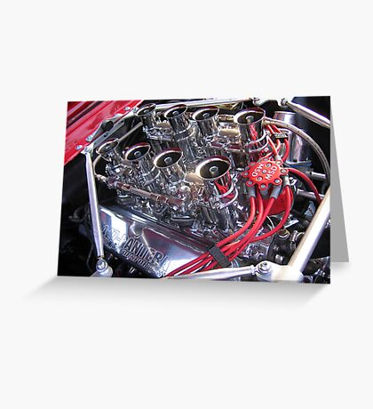 427 engine with quartet of webers  Greeting Card
