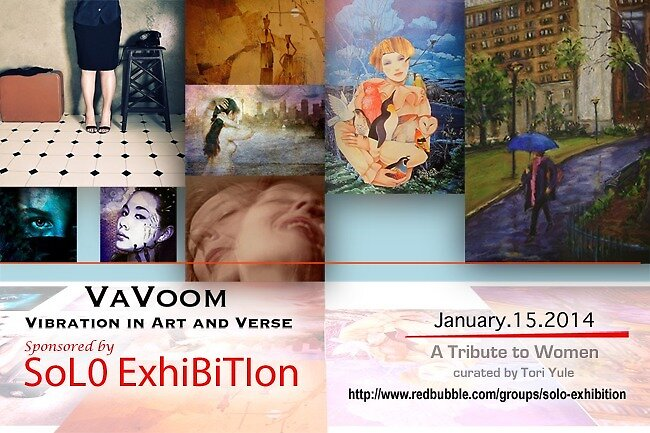VaVoom's A Tribute to Women Exhibition Banner by solo-exhibition