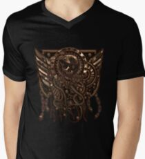 Airship Pirate Badge in Copper Men's V-Neck T-Shirt