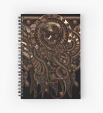Airship Pirate Badge in Copper Spiral Notebook