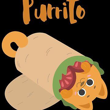 Purrito - Burrito Cat Pun by fatamyfan1