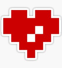Pixel Heart 8 Bit Love Sticker
