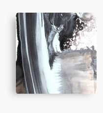 Grey and white Abstract Canvas Print