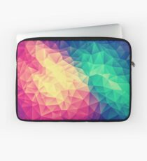 Abstract Polygon Multi Color Cubism Low Poly Triangle Design Laptop Sleeve