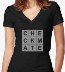 Checkmate Chess Women's Fitted V-Neck T-Shirt