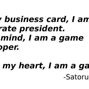 A quote from Satoru Iwata by Infernoman
