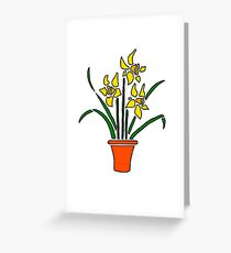 Potted Daffodils! Greeting Card